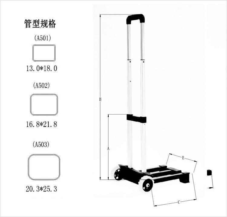 脚轮的搭配是否能让折叠行李车显眼出众?
